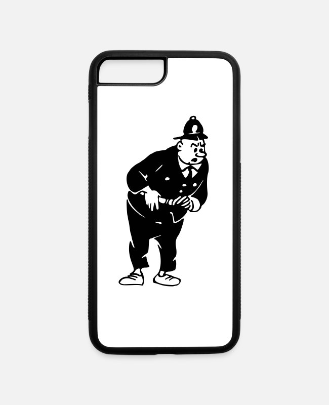 Office iPhone Cases - Stern policeman - iPhone 7 & 8 Plus Case white/black