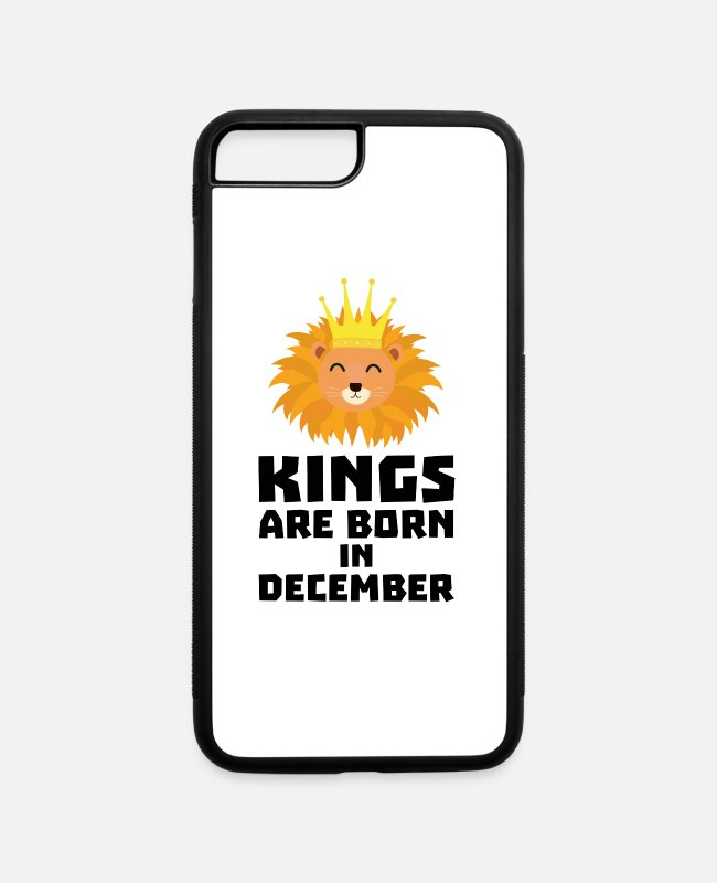 Queens iPhone Cases - Kings are born in DECEMBER Gift - iPhone 7 & 8 Plus Case white/black
