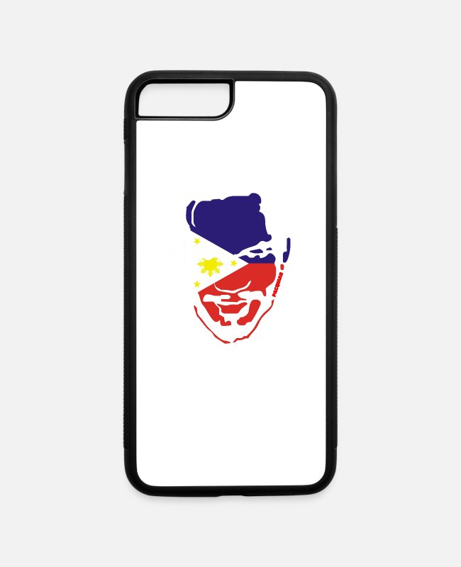 Movie iPhone Cases - Filipino Flag On Manny Pacquiao - iPhone 7 & 8 Plus Case white/black