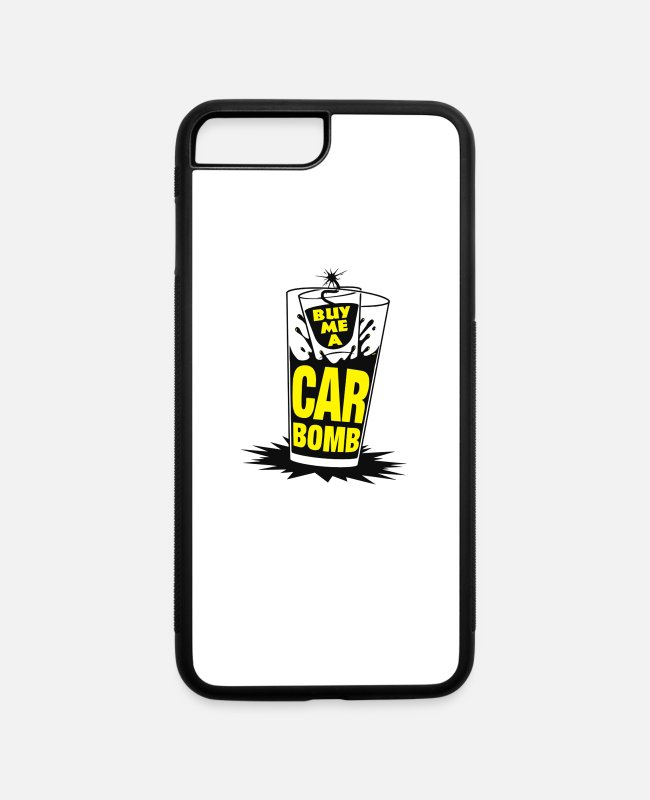 Bombshell iPhone Cases - Bomb Me A Car Bomb System - iPhone 7 & 8 Plus Case white/black