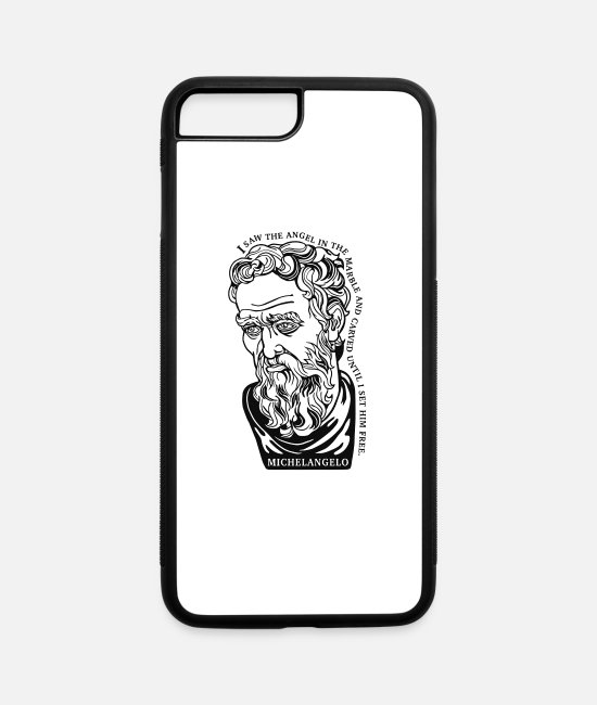 Quote iPhone Cases - I saw the angle - iPhone 7 & 8 Plus Case white/black