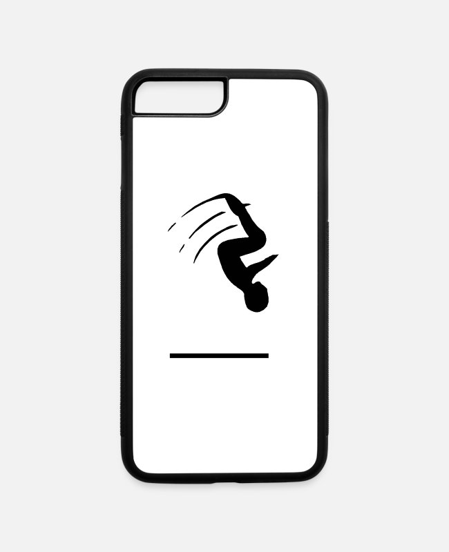 Flipping iPhone Cases - Gymnast - iPhone 7 & 8 Plus Case white/black