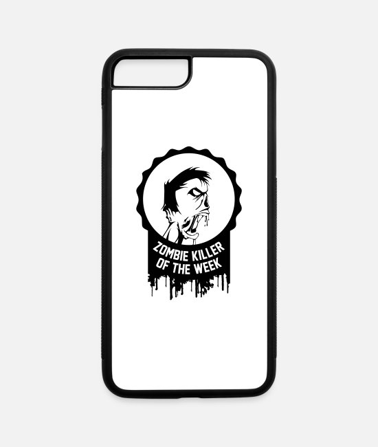 Zombie iPhone Cases - Zombie killer of the week award - iPhone 7 & 8 Plus Case white/black
