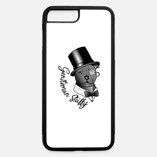 American iPhone Cases - Gentleman Staffy - iPhone 7 & 8 Plus Case white/black