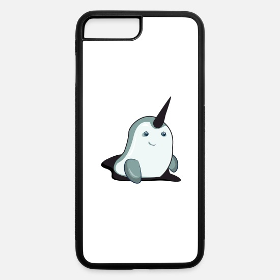 Narwhal iPhone Cases - Narwhal - iPhone 7 & 8 Plus Case white/black
