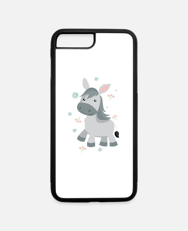 Donkey iPhone Cases - donkey - iPhone 7 & 8 Plus Case white/black