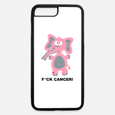 Breast Fight Fuck Cancer Breast Comic Elephant Fun - iPhone 7 & 8 Plus Case
