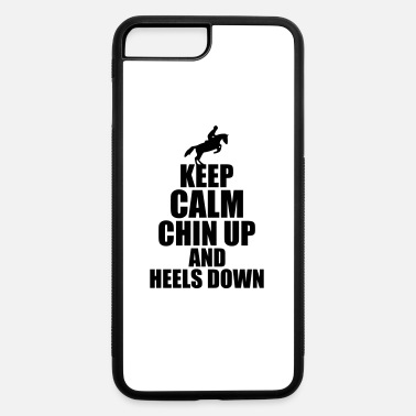 Show Jumping Horse Keep Calm show jumping horse riding Jump Pet - iPhone 7 Plus/8 Plus Rubber Case