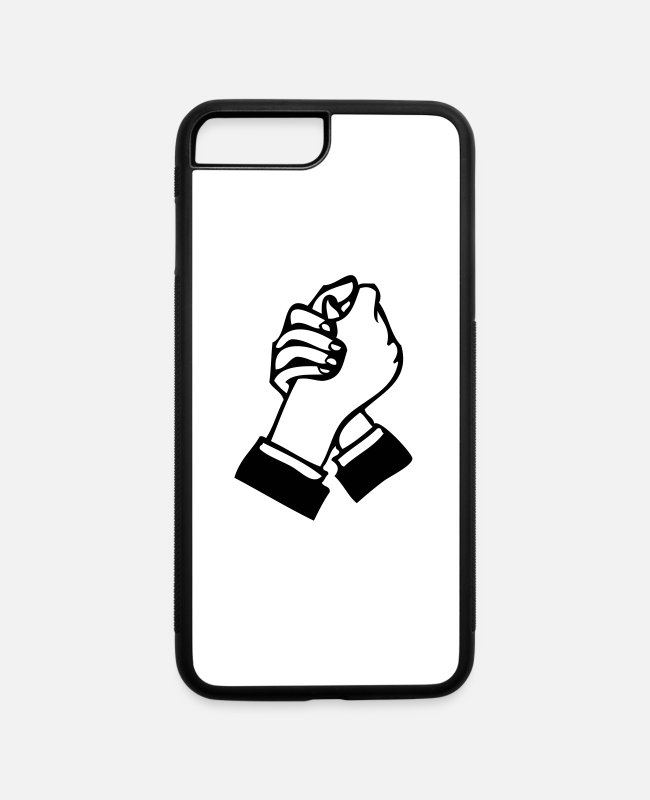 Hand Shake iPhone Cases - arm wrestle - iPhone 7 & 8 Plus Case white/black
