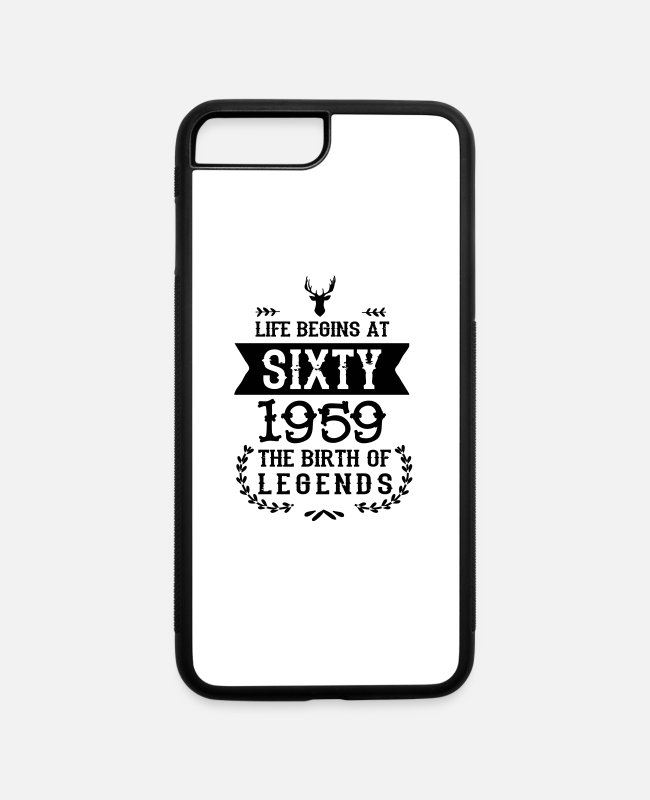 Quote iPhone Cases - 60th Birthday - 1959 - Vintage - Birthday Shirt - iPhone 7 & 8 Plus Case white/black