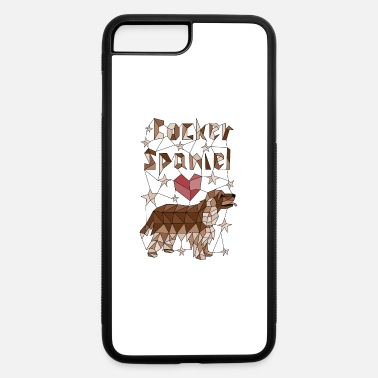 Cocker Spaniel T Geometric Cocker Spaniel - iPhone 7 & 8 Plus Case