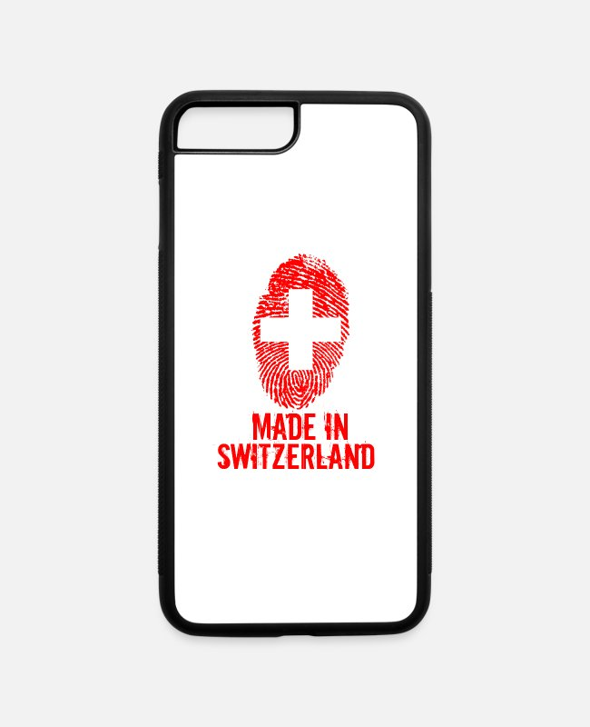 Alps iPhone Cases - Made in Switzerland / Suiss - iPhone 7 & 8 Plus Case white/black