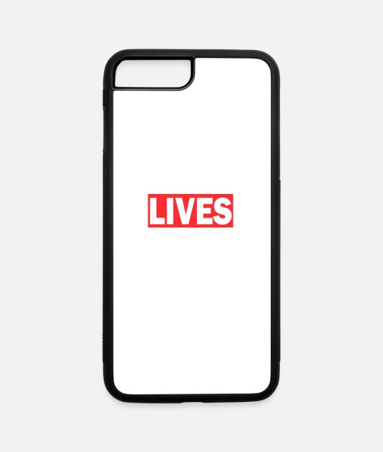 Matter iPhone Cases - Black Lives Matter 3 - All live matter shirt - iPhone 7 & 8 Plus Case white/black