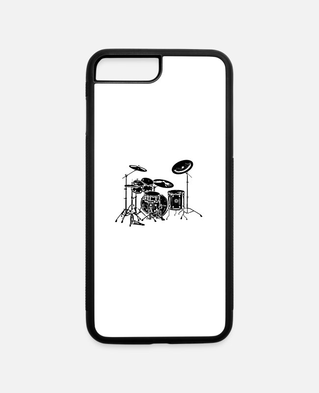Rock iPhone Cases - Drums - iPhone 7 & 8 Plus Case white/black