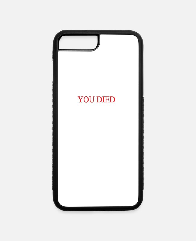 Video Game iPhone Cases - You Died - iPhone 7 & 8 Plus Case white/black