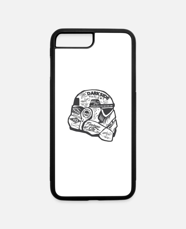 Chewbacca iPhone Cases - Cool Star Wars Stormtrooper helmet - iPhone 7 & 8 Plus Case white/black