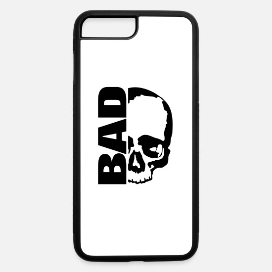 Grungy iPhone Cases - Skull Bad - iPhone 7 & 8 Plus Case white/black