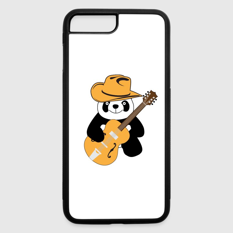 Funny panda with guitar - iPhone 7 Plus/8 Plus Rubber Case