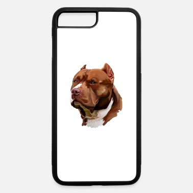 Brown Pitbull Face Gifts - iPhone 7 & 8 Plus Case