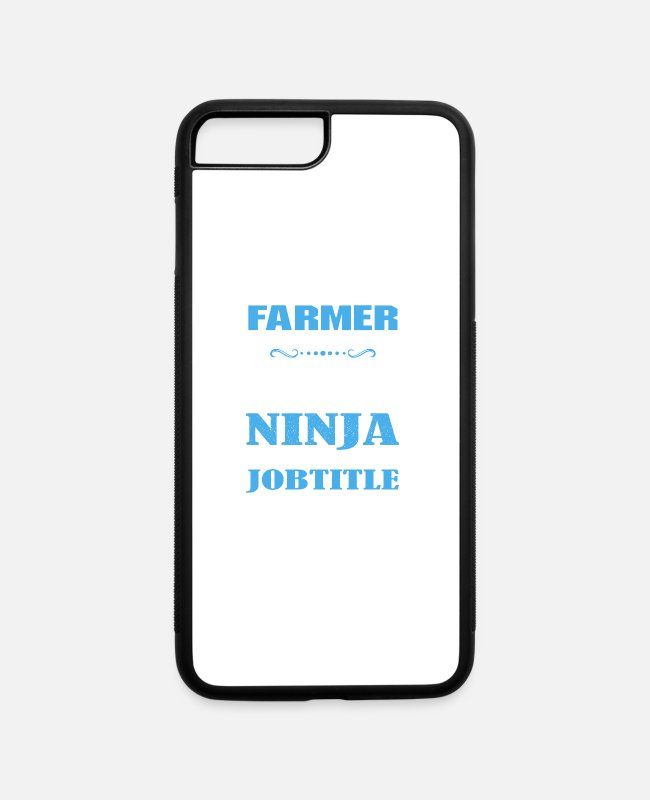 iPhone Cases - Farmer Shirt - iPhone 7 & 8 Plus Case white/black