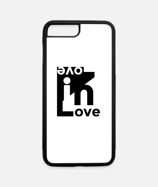 Engagement iPhone Cases - Love in Love - Couple for WoMan - iPhone 7 & 8 Plus Case white/black