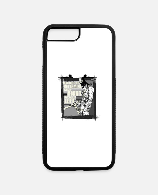 Shooter iPhone Cases - Army - iPhone 7 & 8 Plus Case white/black