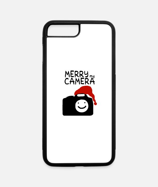 Proud iPhone Cases - merry my Camera Photographer xmas blog Santa Gift - iPhone 7 & 8 Plus Case white/black