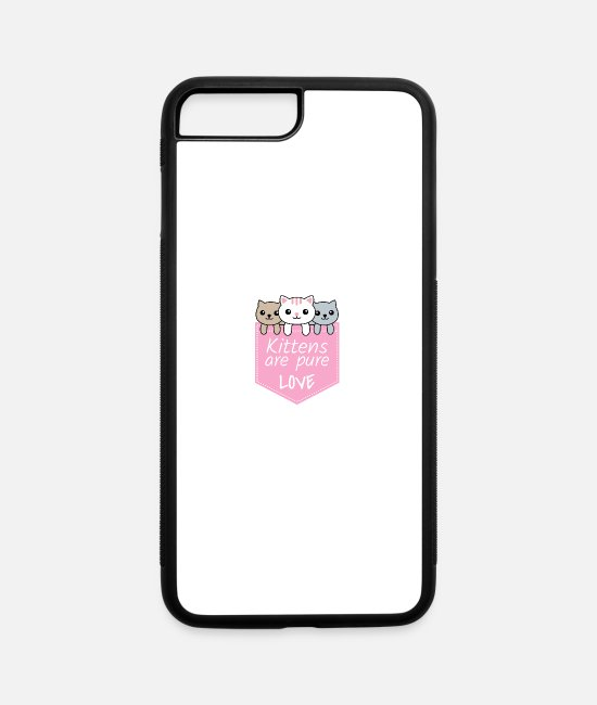 Heart iPhone Cases - Kittens are Pure Love - iPhone 7 & 8 Plus Case white/black