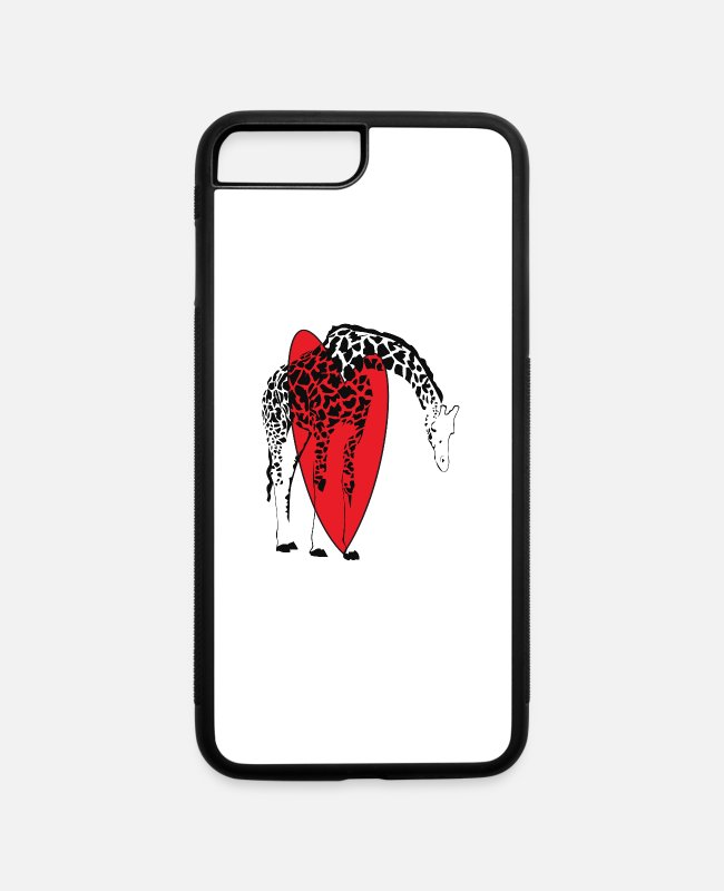 Zoo Animal iPhone Cases - Giraffes Endangered Wildlife Africa T shirts - iPhone 7 & 8 Plus Case white/black