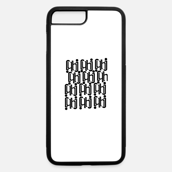 h iPhone Cases - letters - iPhone 7 & 8 Plus Case white/black