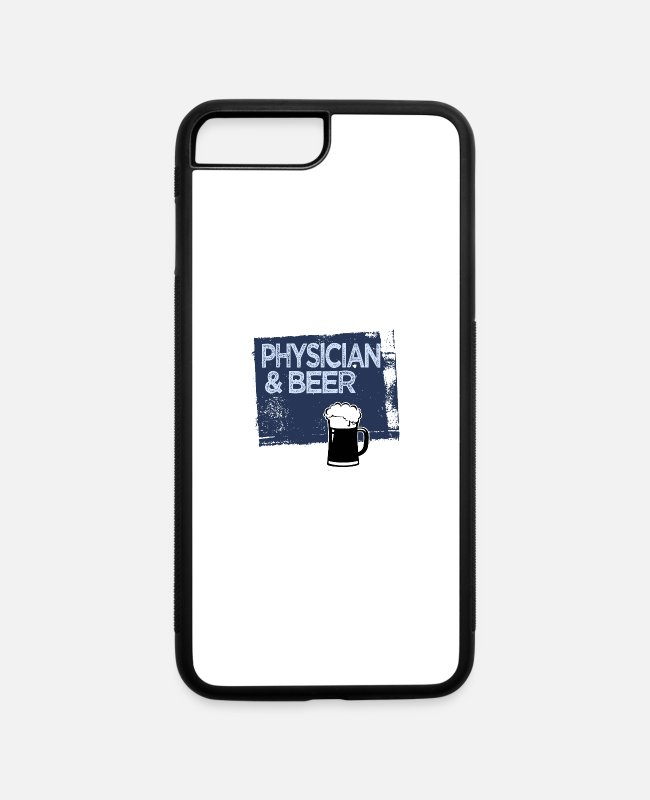 Office iPhone Cases - Physician & beer - iPhone 7 & 8 Plus Case white/black