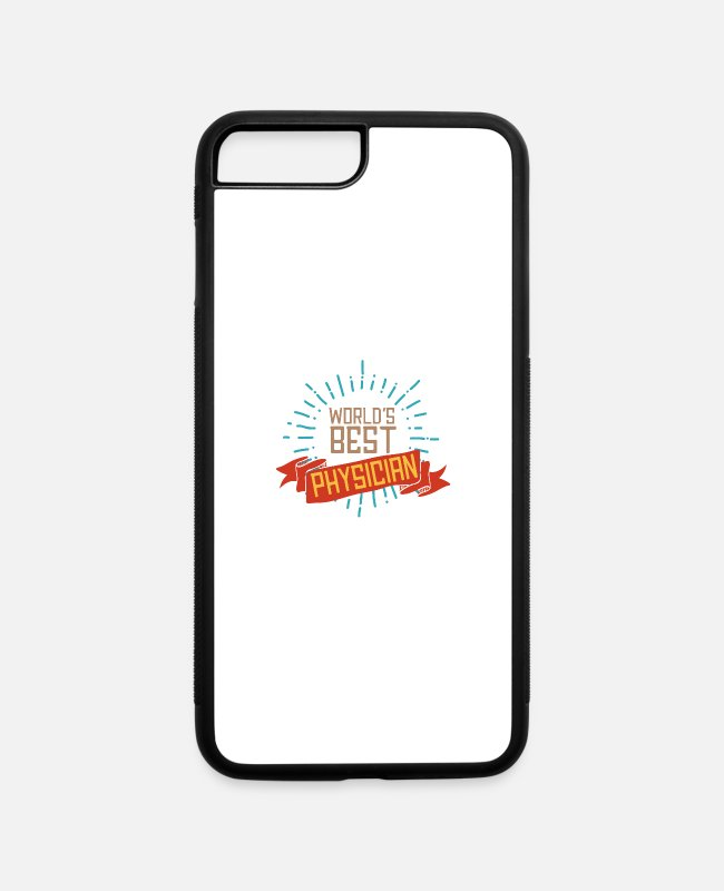 Occupation iPhone Cases - World's best physician - iPhone 7 & 8 Plus Case white/black