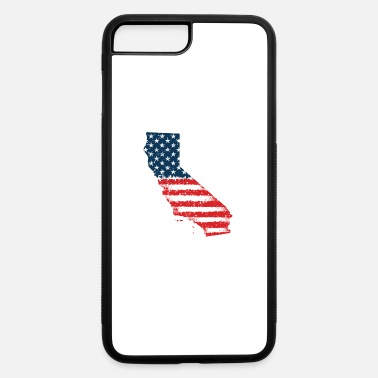 California 4th of July California State Outline Flag - iPhone 7 & 8 Plus Case