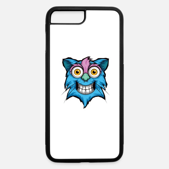 Cat iPhone Cases - Stoned Cat - iPhone 7 & 8 Plus Case white/black