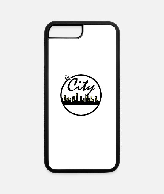 Symbol  iPhone Cases - The city - iPhone 7 & 8 Plus Case white/black