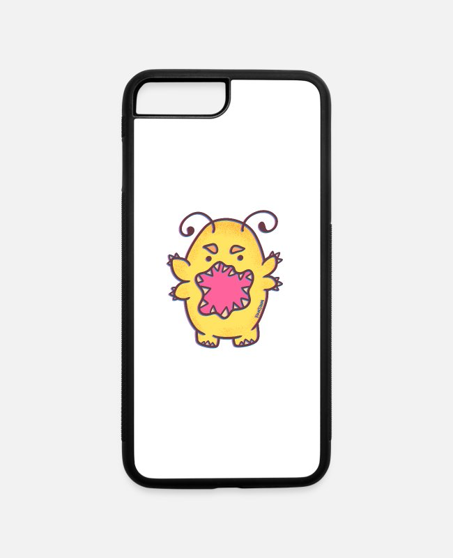 Party iPhone Cases - scary yellow monster halloween party child gift - iPhone 7 & 8 Plus Case white/black
