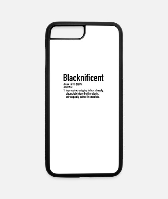 Month iPhone Cases - Blacknificent Definition | Black History Month - iPhone 7 & 8 Plus Case white/black