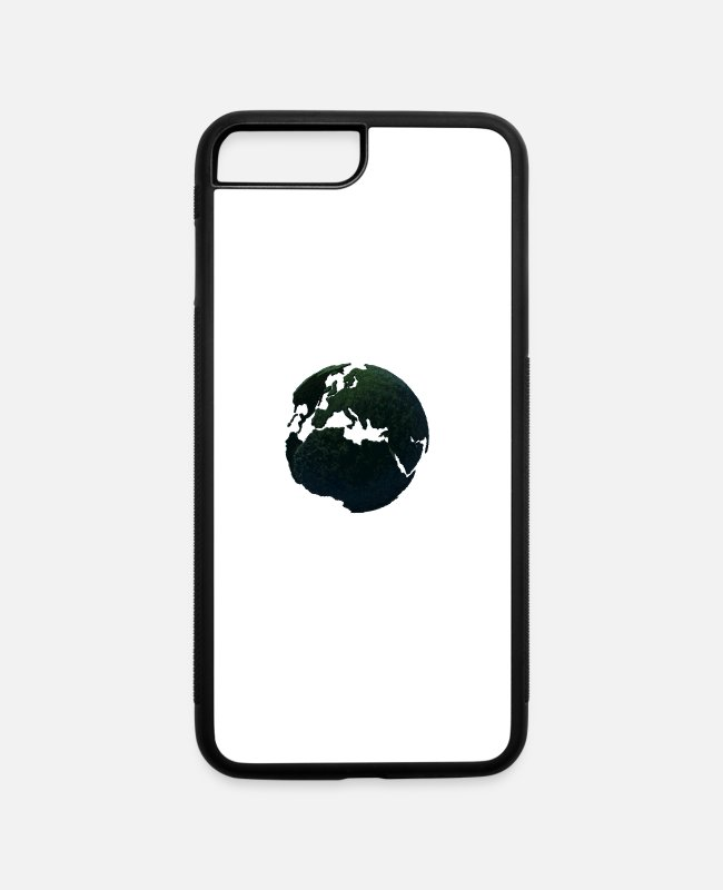 World Map iPhone Cases - green world - iPhone 7 & 8 Plus Case white/black