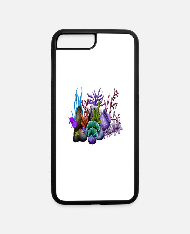 Reef iPhone Cases - coral reef - iPhone 7 & 8 Plus Case white/black