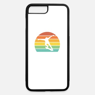 Skateboard Skateboarding retro sunset cool skateboarder gift - iPhone 7 & 8 Plus Case