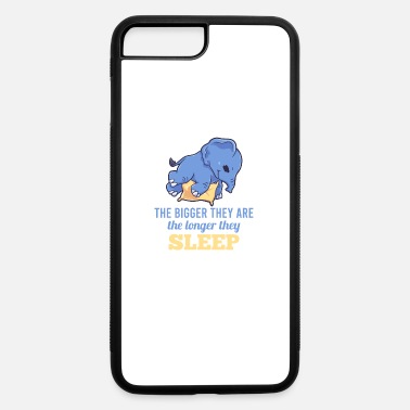 Pause Elephant large sleeping tired gift - iPhone 7 & 8 Plus Case