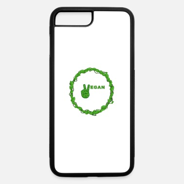 Healthy Vegan Peace Inside Ring Of Leaves - iPhone 7 & 8 Plus Case