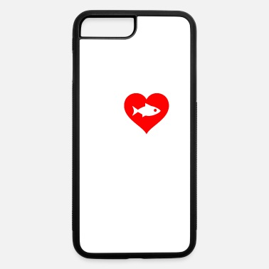 Fantastic I Love Fishing Heart-Red Design Design Present - iPhone 7 & 8 Plus Case