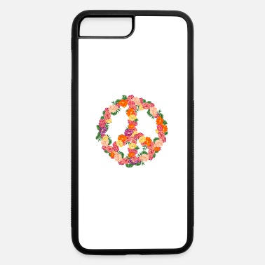 Concert FLOWER PEACE SYMBOL 70's Hippie Gift For 70s Party - iPhone 7 & 8 Plus Case