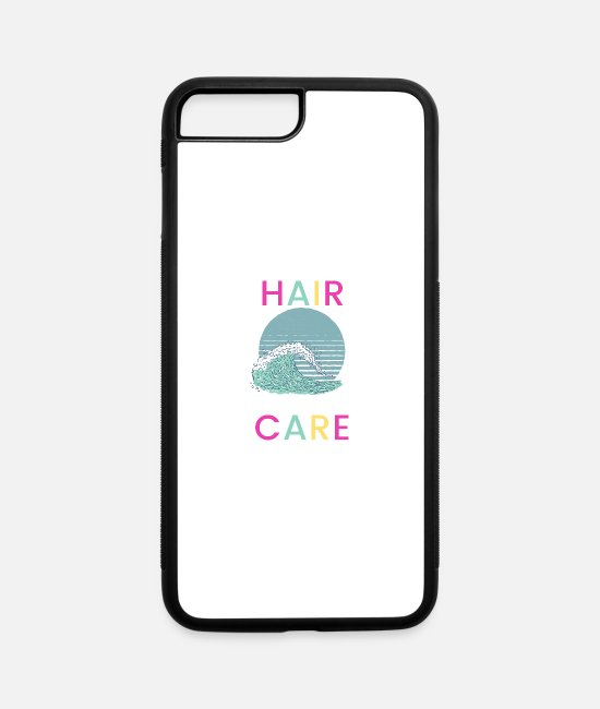 Wave iPhone Cases - Salty Hair I Don't Care - iPhone 7 & 8 Plus Case white/black