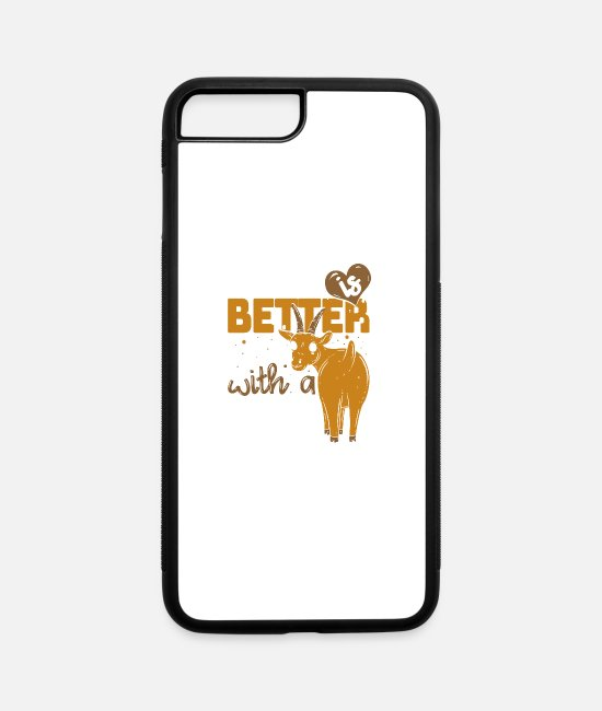 Farmers iPhone Cases - Life Is Better With A Cow - Goat - iPhone 7 & 8 Plus Case white/black