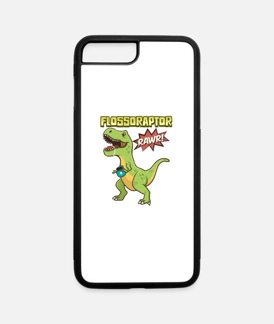Dinosaurs iPhone Cases - Flossoraptor - iPhone 7 & 8 Plus Case white/black