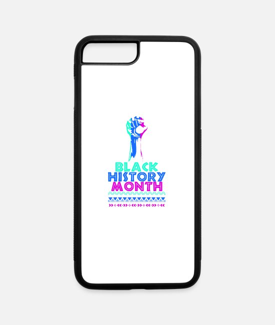 Afro American iPhone Cases - Black History Month Black Lives Matter - iPhone 7 & 8 Plus Case white/black