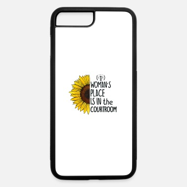 Funny Lawyer Puns A Woman's Place Is in the Courtroom, Cool Lawyer - iPhone 7 & 8 Plus Case