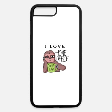 I love home office - sloth coffee relax - iPhone 7 & 8 Plus Case